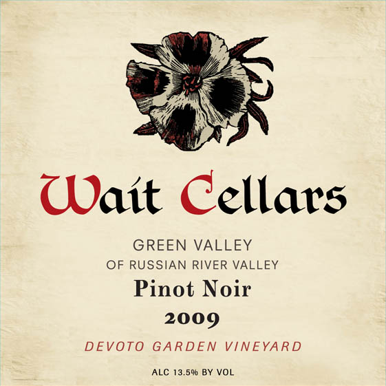 2009 Wait Cellars Devoto Garden Pinot Noir